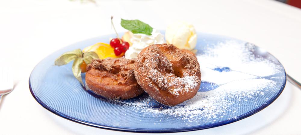 Eine lecker Nachspeise aus dem Tagungshotel Behringers in der Fränkischen Schweiz