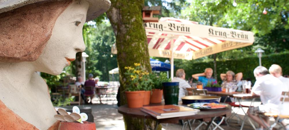 Impression aus dem Biergarten des Tagungshotel Behringers in der Fränkischen Schweiz