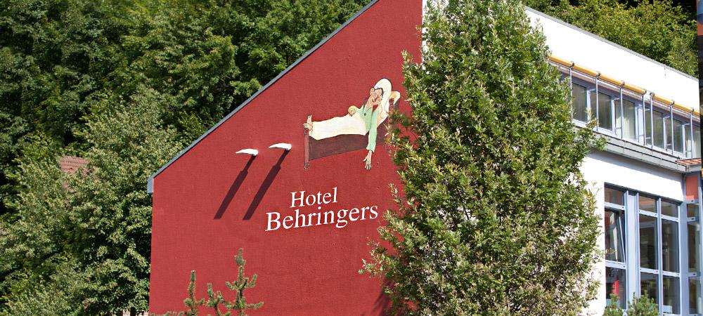 Aussenansicht unseres Tagungshotels Behringers in der Fränkischen Schweiz